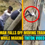 Man Falls of Moving Train While Making TikTok Video
