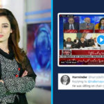 Pakistani TV Show Penal Member Falls from Chair